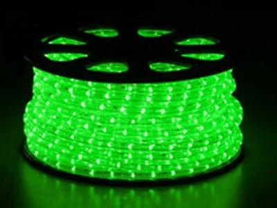 svetelný kábel Zelený